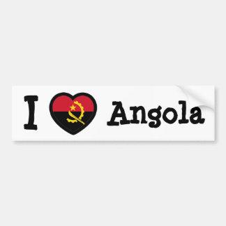 Angola Flag Car Bumper Sticker