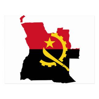 Angola flag map AO Postcard