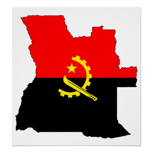 angola flag map full size poster