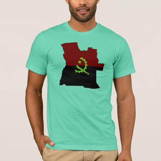 Angola flag map T-Shirt