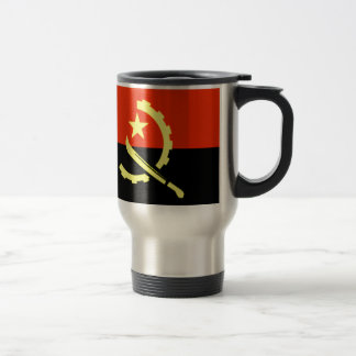 Angola flag coffee mugs