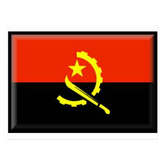 Angola flag post card
