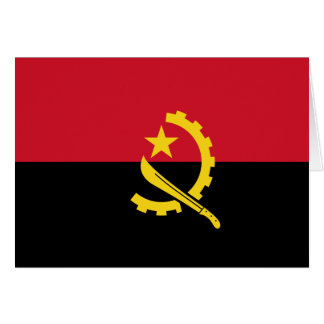 Angola Flag Stationery Note Card