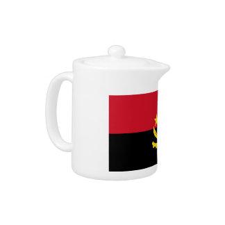 Angola Flag Teapot