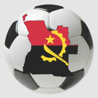Angola football soccer classic round sticker