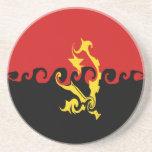 Angola Gnarly Flag Beverage Coaster