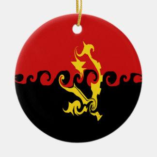 Angola Gnarly Flag Ceramic Ornament