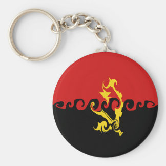 Angola Gnarly Flag Keychain