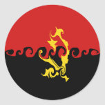 Angola Gnarly Flag Sticker