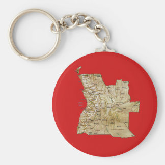 Angola Map Keychain
