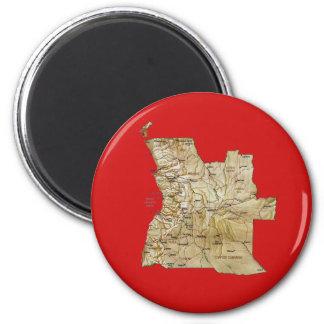 Angola Map Magnet