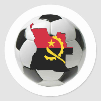 Angola national team classic round sticker