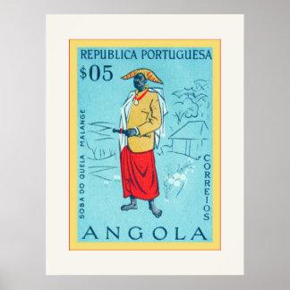 Angola ~ Republica Portuguesa ~ Vintage Postage Poster