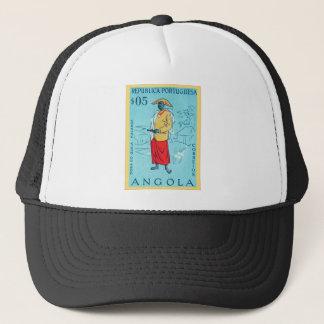 Angola ~ Republica Portuguesa ~ Vintage Postage Trucker Hat