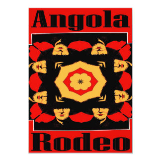 Angola Rodeo Poster Card