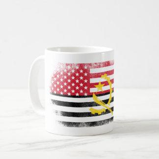Angolan American Flag   Angola and USA Design Coffee Mug