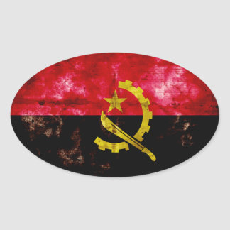 Angolan Flag Oval Sticker