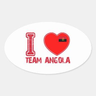 angolan team sports designs oval sticker