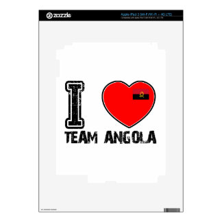 angolan team sports designs decals for iPad 3