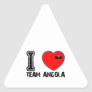 angolan team sports designs triangle stickers