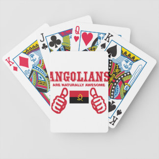 Angolian are naturally awesome bicycle playing cards