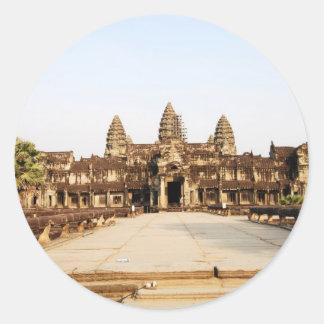 Angor Wat Classic Round Sticker
