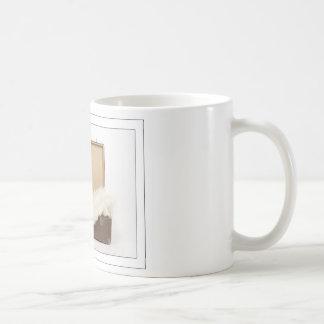 Angora cat in the trunk coffee mug