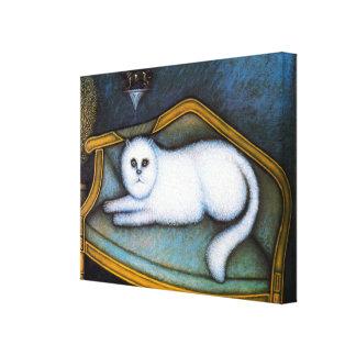 Angora cat, Morris Hirshfield Canvas Print