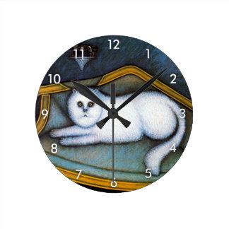 Angora cat, Morris Hirshfield Round Clock