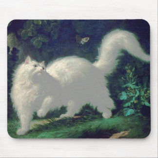 Angora cat mousepad