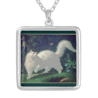 Angora cat necklace