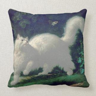 Angora cat pillow
