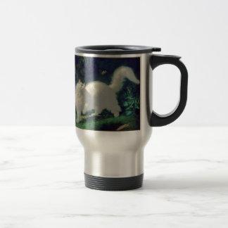 Angora cat travel mug