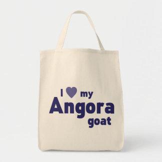 Angora goat grocery tote bag