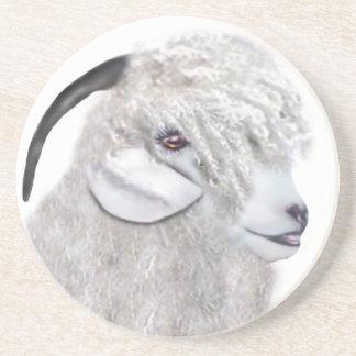 Angora Goat Sandstone Coaster