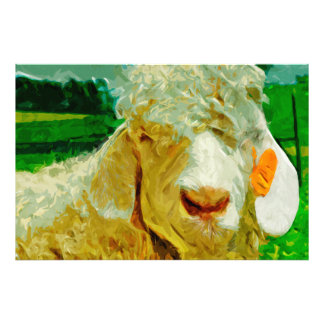 Angora Goat With Ear Tag Abstract Impressionism Photograph