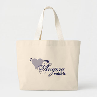 Angora rabbit jumbo tote bag