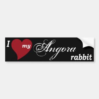 Angora rabbit car bumper sticker