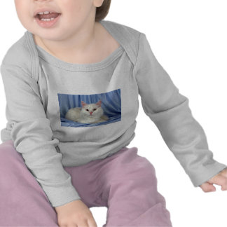 Angora turco blanco camiseta