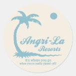 Angri-La Classic Round Sticker
