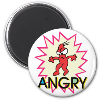 Angry 2 Inch Round Magnet