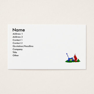 Angry Alien changing tire Business Card