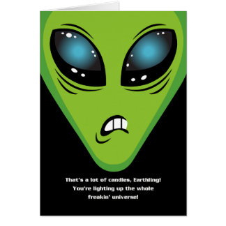 Angry Aliens Birthday Card