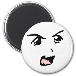 Angry Anime Eyes 2 Inch Round Magnet