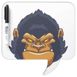 angry ape gorilla face dry erase board