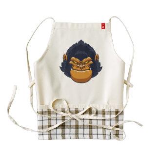 angry ape gorilla face zazzle HEART apron