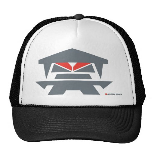Angry Asian Trucker Hat
