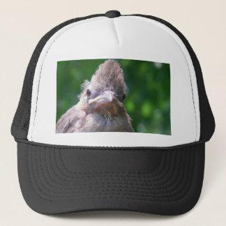 angry baby bird trucker hat