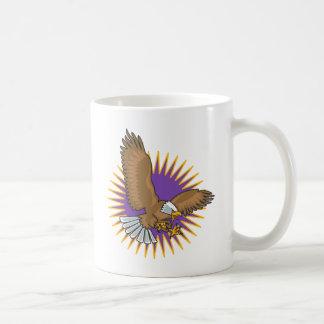 Angry Bald Eagle Landing Coffee Mug