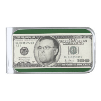 Angry Bankster! Silver Finish Money Clip